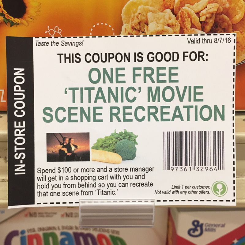 funny coupons in grocery store free hugs