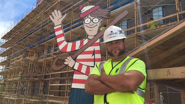construction worker waldo for hospital kids