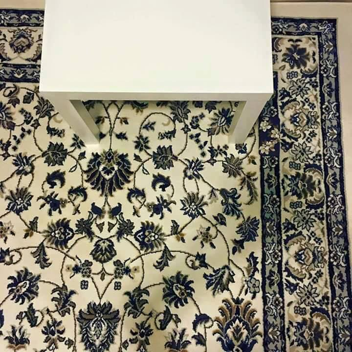 woman drops phone on rug and impossible to see