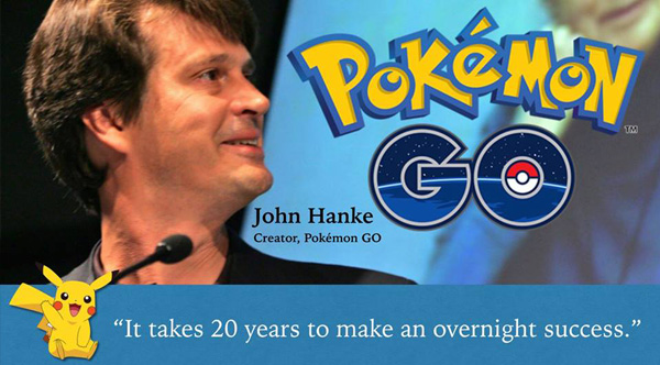 Pokemon Go 20 years for overnight success