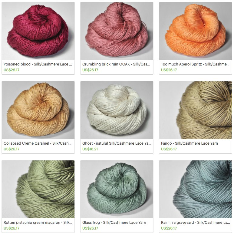 dyed yarns funny names