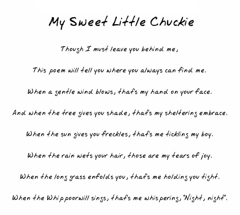 a poem to Chuckie from mom rugrats
