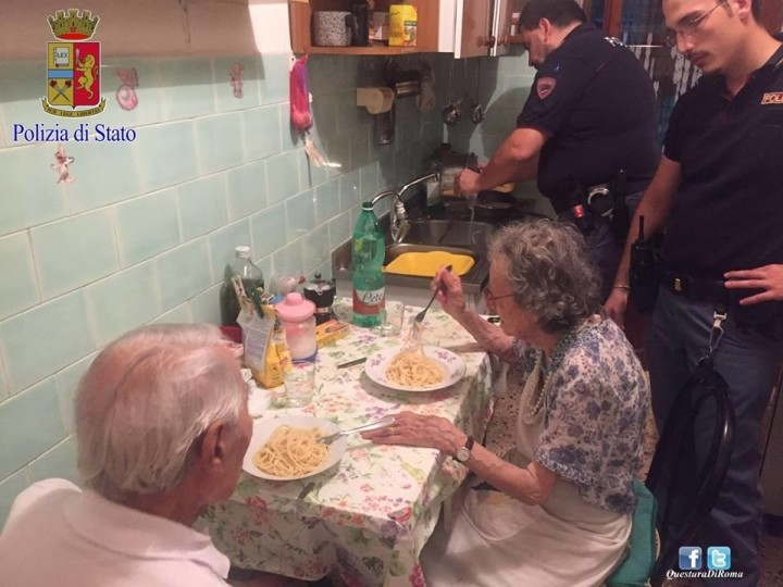 police cook elderly couple meal