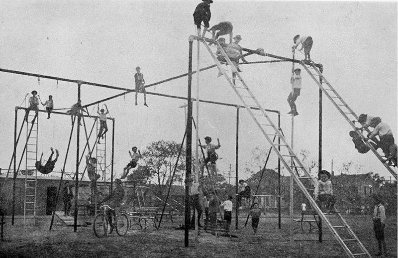 scary playground equipment 1900s