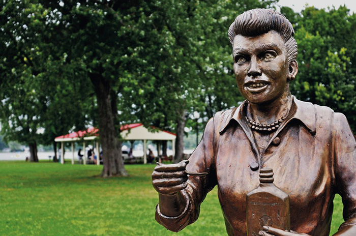 scary lucy statue replaced