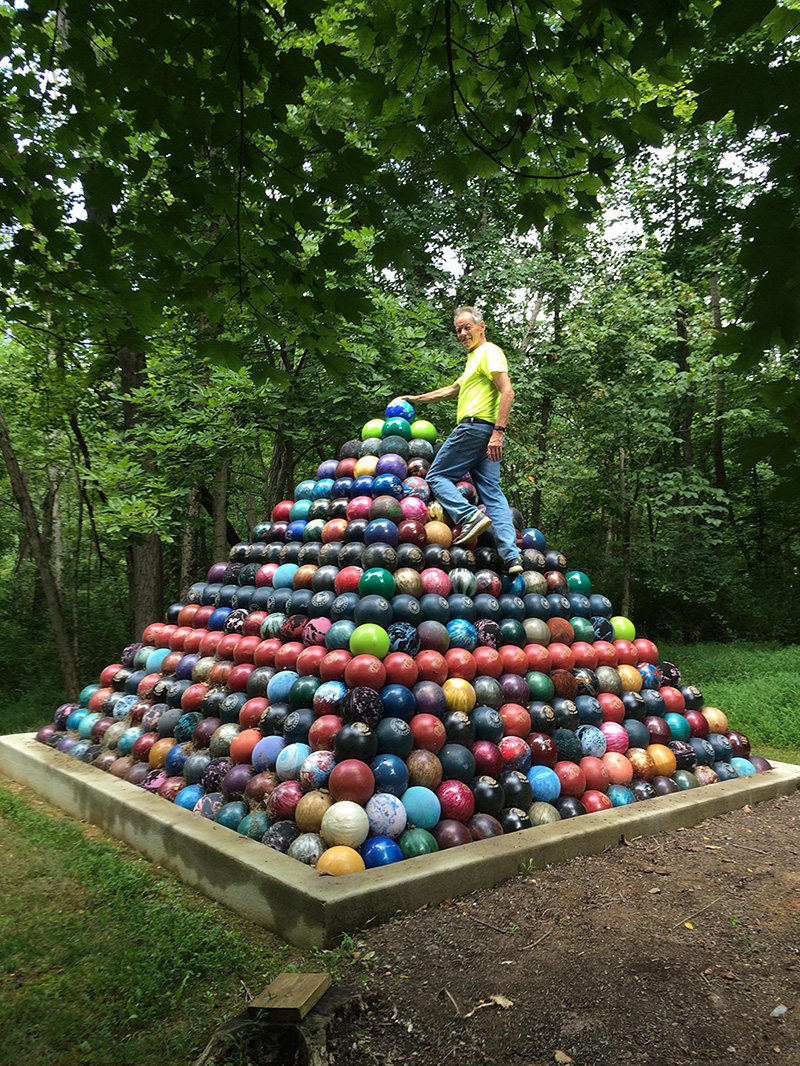bowling ball pyramid