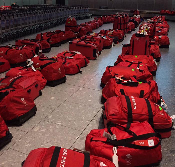 Great Britain bags airport