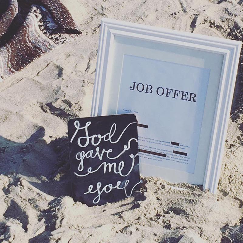 woman gets job engagement shoot said yes