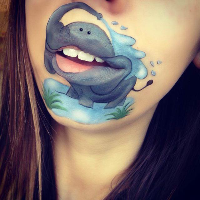 lip makeup cartoons