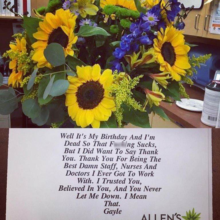 boss passed away and sent this to staff