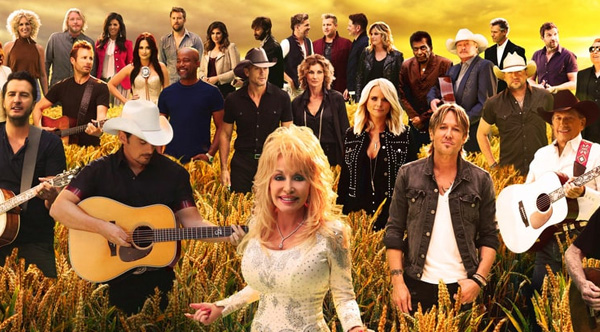 Country Music Stars Wallpaper: Forever Country: Stars From Then And Now Sing A Beautiful