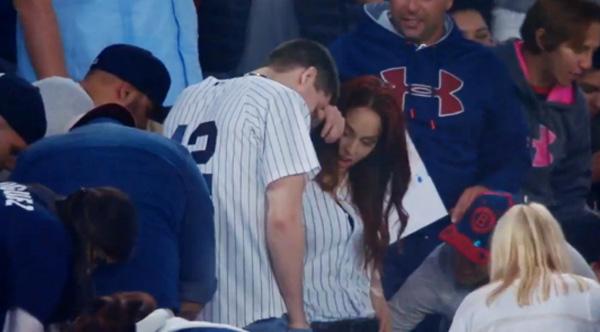 Yankees wedding proposal drops ring