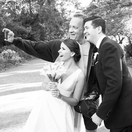 tom hanks crashes wedding photos