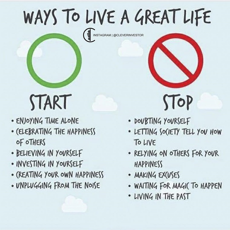 ways to a great life