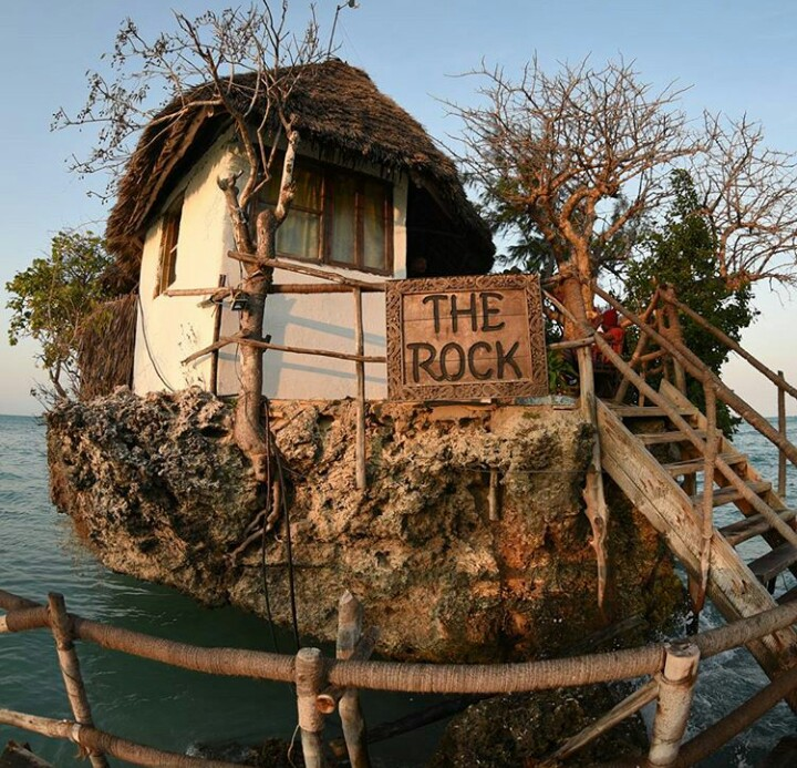 the rock restaurant in ocean