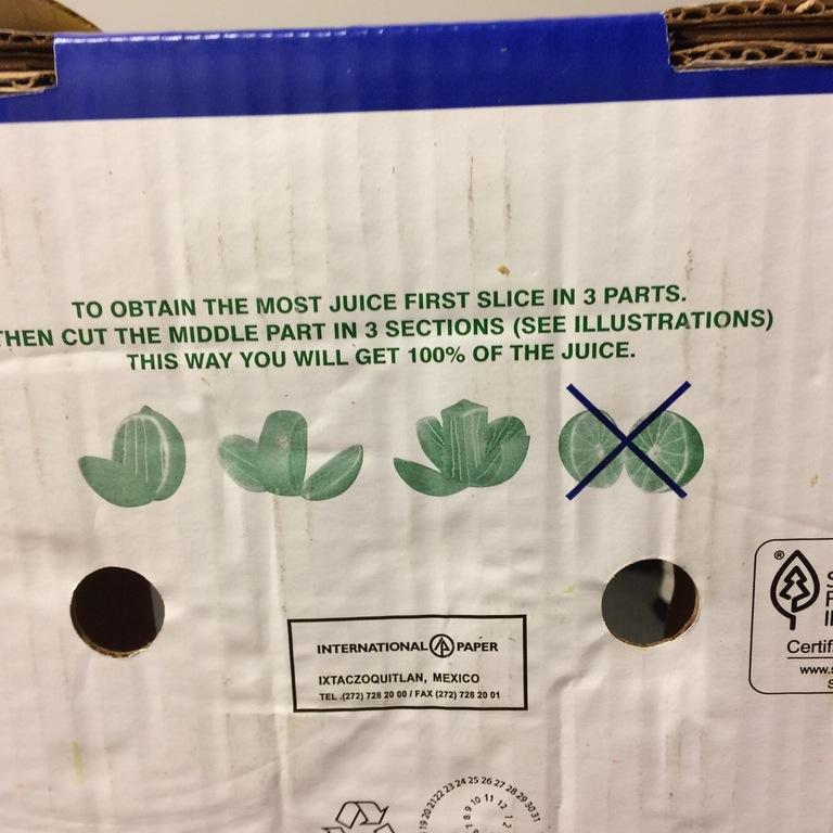 cut limes wrong