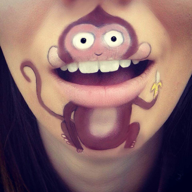 lip makeup cartoons