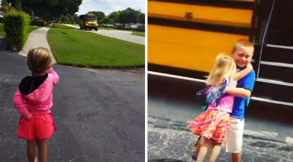 Little Sister Does This Every Time The School Bus Drops