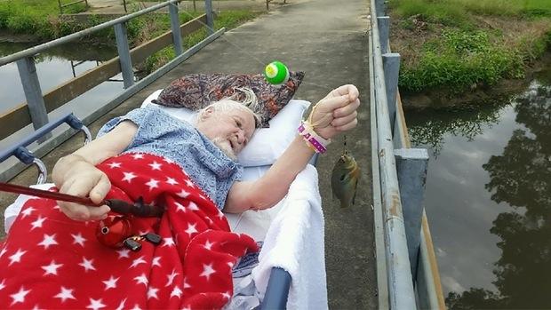 man dying wish catch a fish