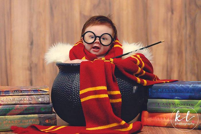 harry potter baby photoshoot