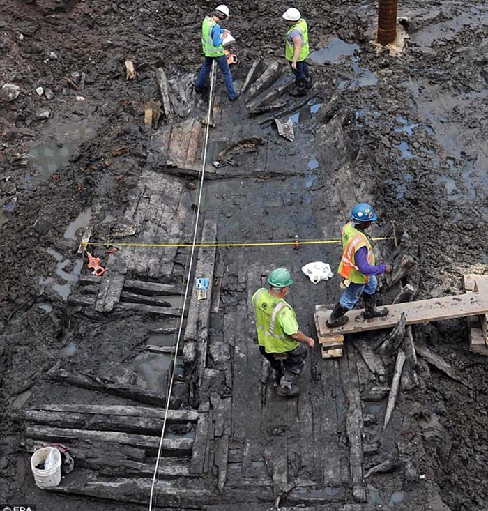 ship buried under World Trade center