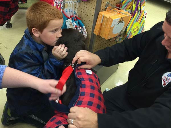 boy diabetes pennies service dog good news