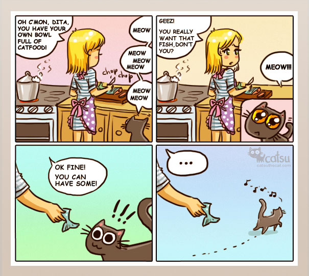 If You Own A Cat, These Comics Purrfectly Describe Your Life  45gfj-funny-cat-comics-7