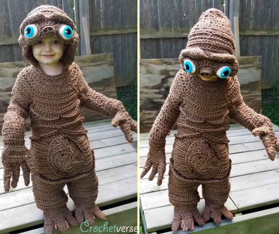 ET crochet kid costume