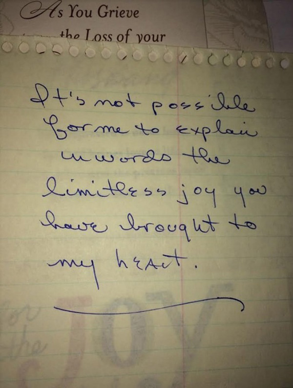 grandpa letter to grandma before death
