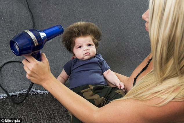 baby bouffant hairstyle
