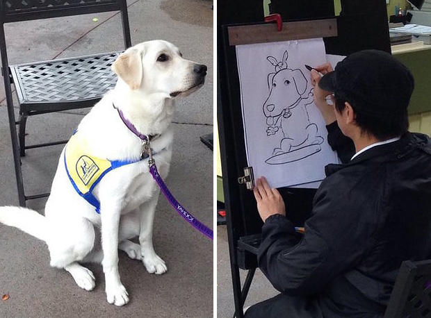 Service Dog Caricature