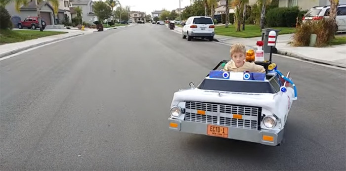 ghostbuster car costume kid wheelchair