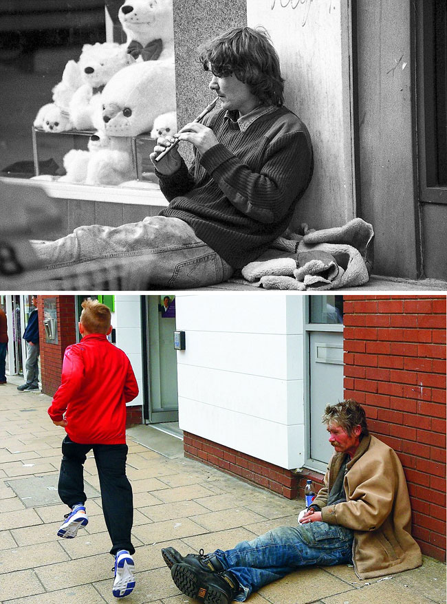 hometown photos of people 40 years later