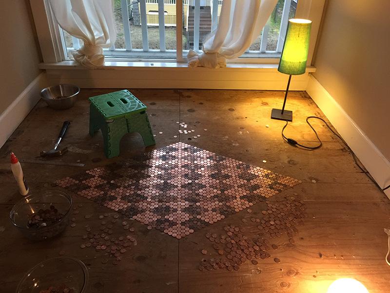 amazing penny floor do it yourself tutorial