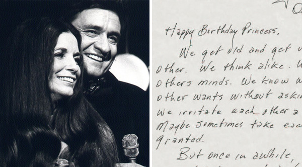 This Letter From Johnny Cash To June Carter Was Voted The Greatest