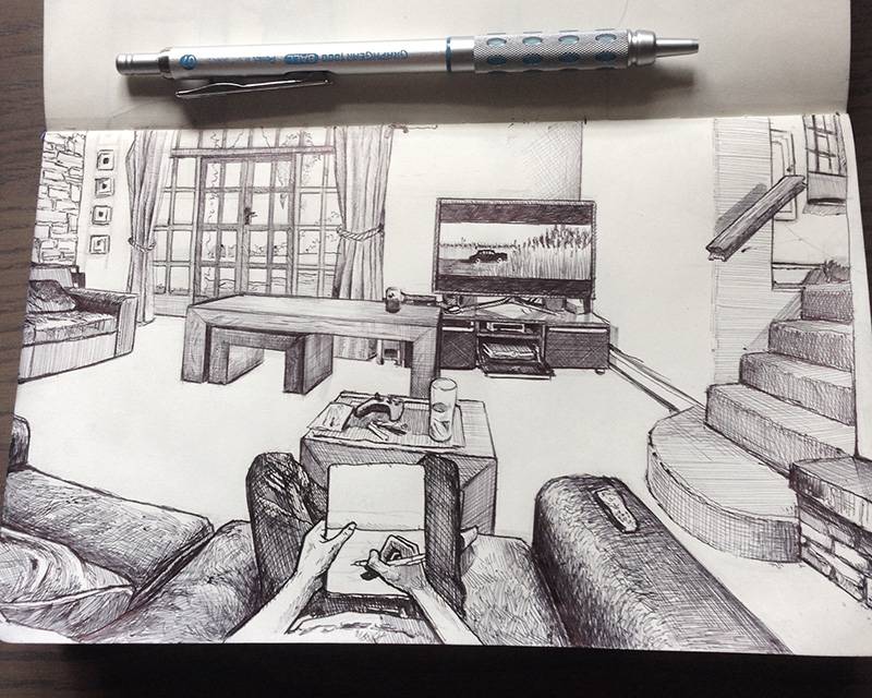 amazing point of view drawings