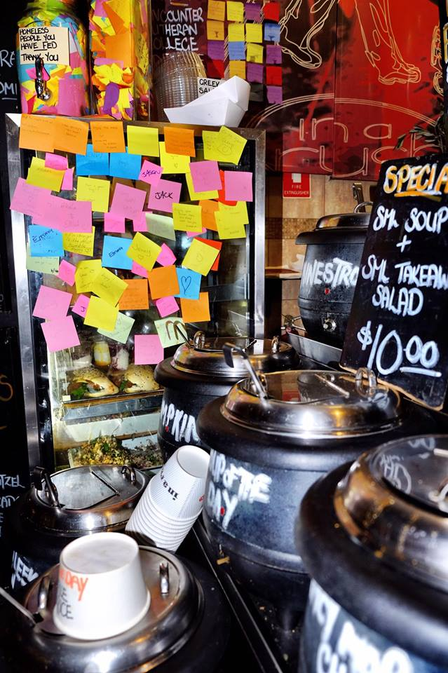 Melbourne soup for homeless pay it forward