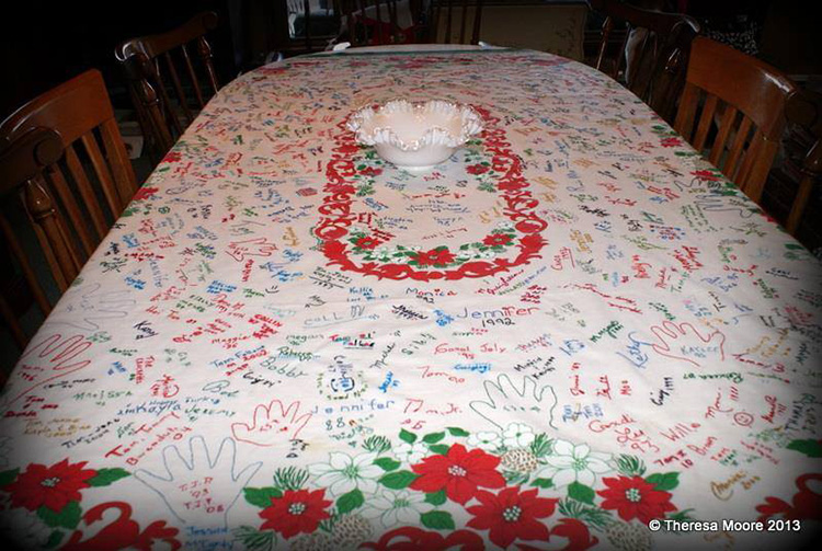 thanksgiving sign tablecloth