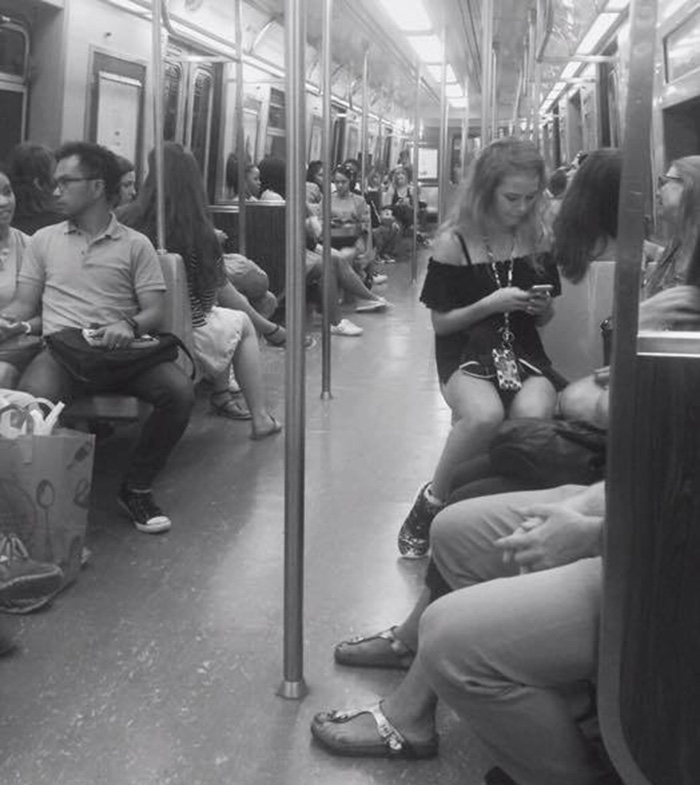 we are the same woman on subway NYC