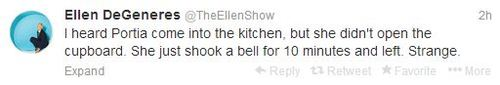 Ellen tweets scaring her wife funny