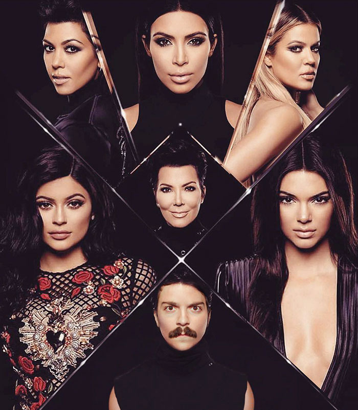 guy photoshops himself into Kendall Jenner photos