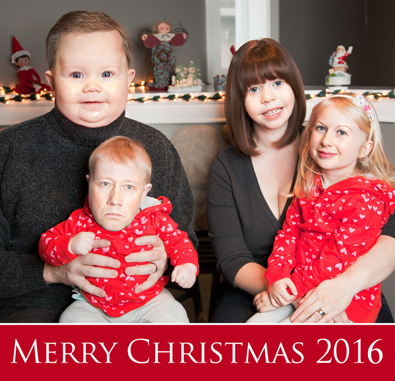Christmas portrait face swap funny