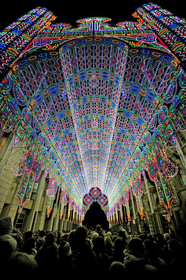 cathedral 55000 lights Belgium