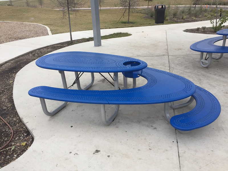 picnic table that sits adults kids and baby wheelchair