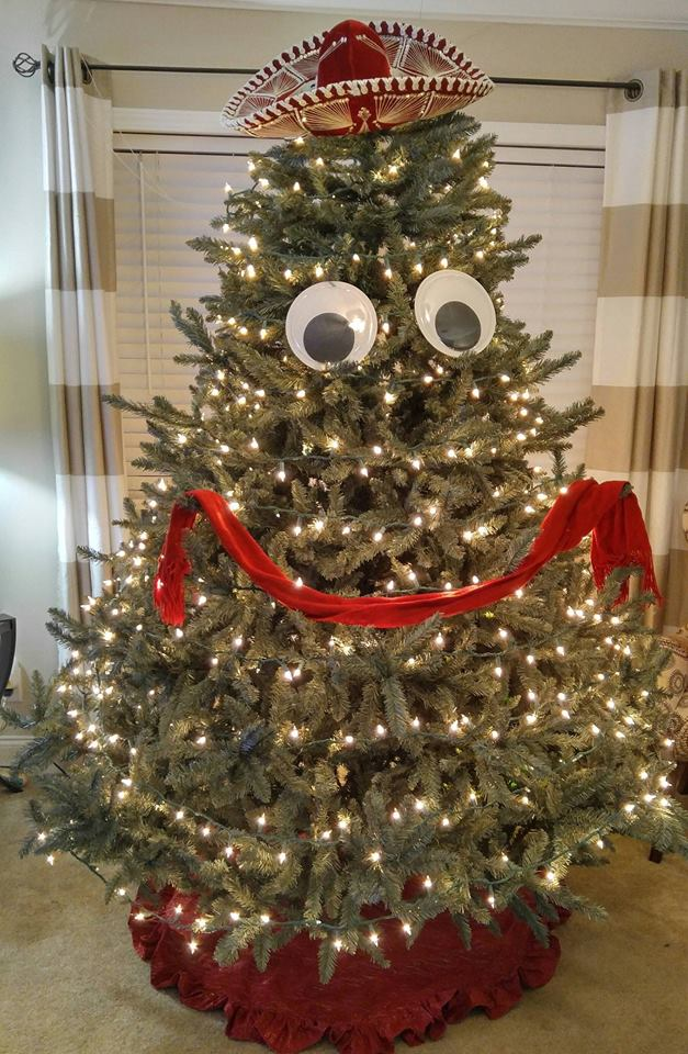 when you let your husband decorate the Christmas tree