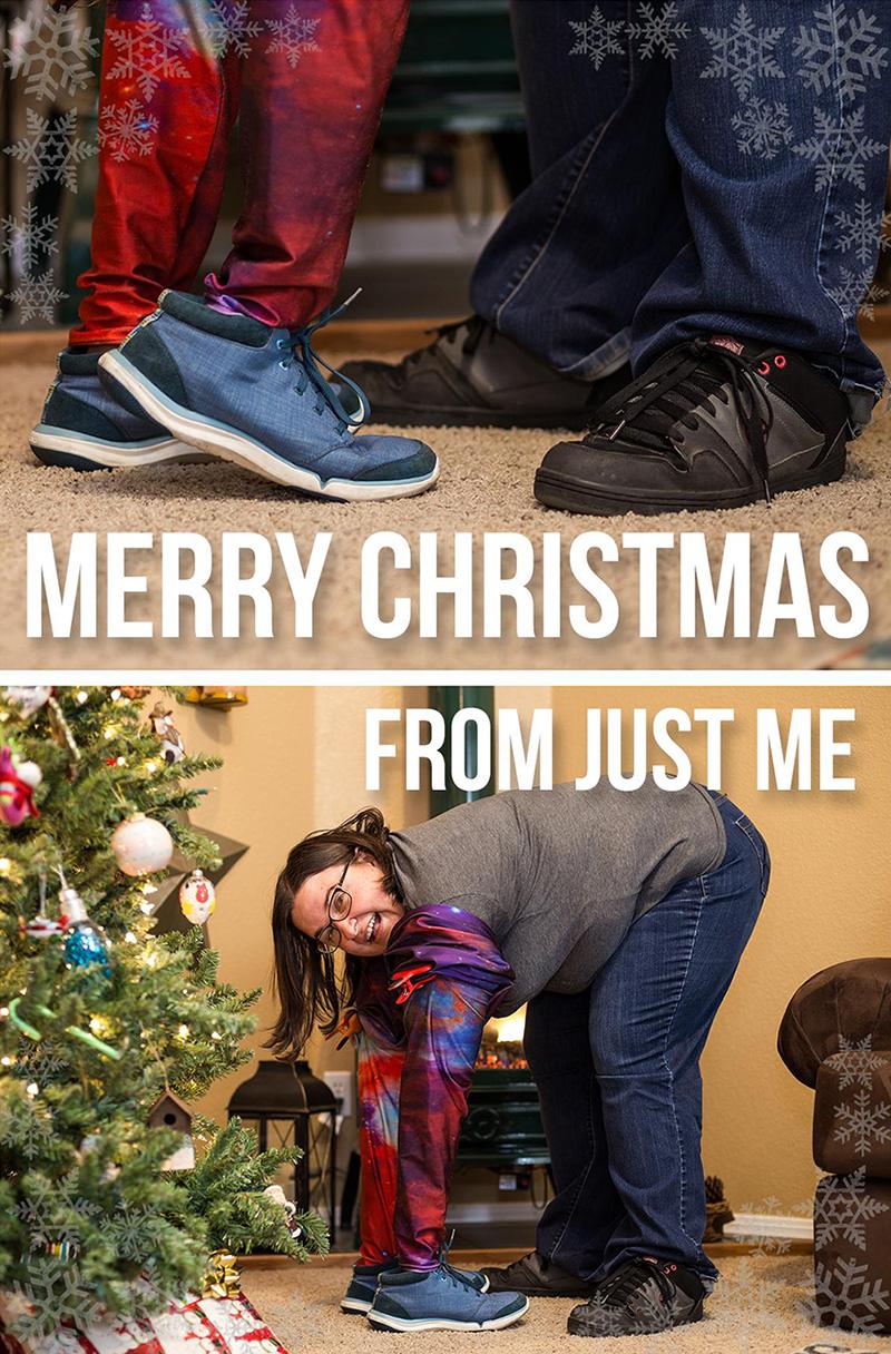 funny Christmas card single woman