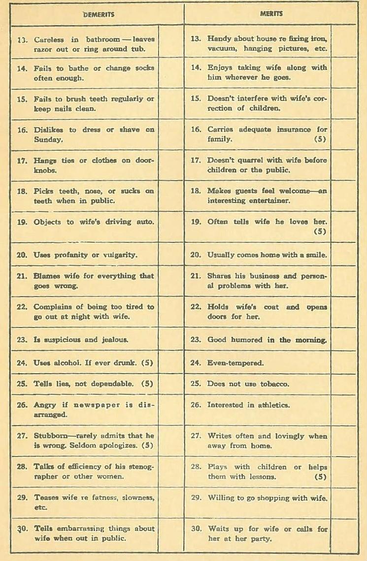husband test 1930