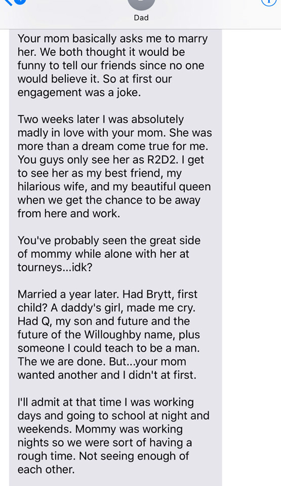 Dad tells daughter how he fell for Mom