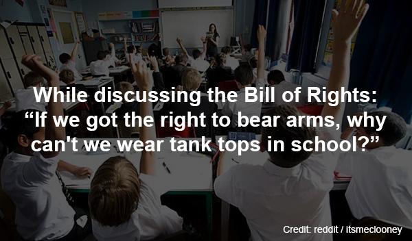 stupid questions teachers admit