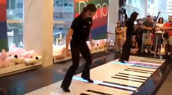 Now THIS Is How You Play A Floor Piano! Bravo!!